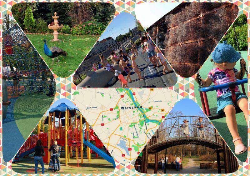 place zabaw w warszawie - collage